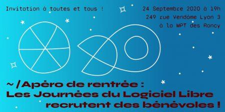 Apéro des Journées du Logiciel Libre jeudi 24 septembre à 19h